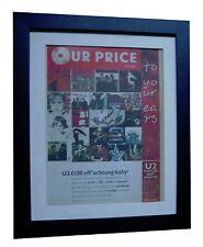 U2+Achtung Baby+POSTER+AD+RARE ORIGINAL 1992+QUALITY FRAMED+EXPRESS GLOBAL SHIP