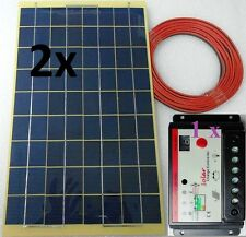 20w (2x 10w) Solar Panel + 8m cable + 10A Charger Controller for 12v 24v Battery