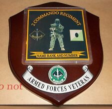 Australian Armed Forces,2 Commando Regiment Veteran Wall Plaque personalised.
