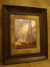 """ANDY THOMAS FRAMED """"BLACK GOLD"""" OPEN EDITION PRINT """"OIL DERRICK"""""""