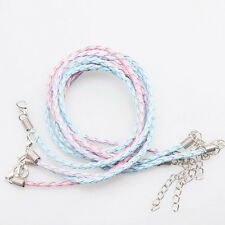 12x Wholesale New Arrival Assorted Leather Braided Necklace Cords 46cm