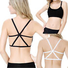 2015 Women Blouse Cross Strap Padded Backless Wrapped Chest Tank Crop Top Blouse
