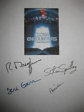 Close Encounters of the Third Kind signed Script Spielberg Dreyfuss Garr reprint