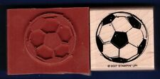 SOCCER BALL outdoor Sport Card NEW STAMPIN' UP! 2007 football RUBBER STAMP