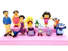 12pcs Dora the Explorer Action Figure Kids Display PVC Toys Cake Topper Decor