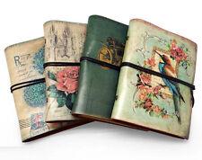 Vintage Bird Kraft Blank Diary Notebook Retro PU Leather Journal Sketchbook #UK