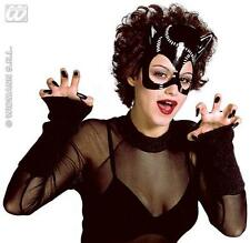 Black Plastic Cat Mask Cat Woman Batman Catwoman Halloween Fancy Dress
