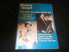 Down Beat Downbeat 1969 Billie Holiday, Lester Young, table of contents 39 pgs