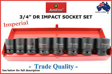 """3/4"""" DR IMPACT SOCKET SET AMPRO PROFESSIONAL QUALITY AIR TOOLS GUN SPECIAL AF"""
