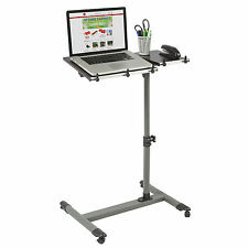 Rolling Laptop Table W/ Tilting Tabletop Overbed Desk TV Food Tray Hospital PC