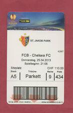 Orig.Ticket   Europa League 12/13  FC BASEL - CHELSEA FC  1/2 FINALE  !!  SELTEN