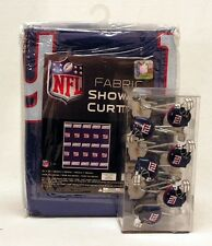 New York Giants NFL Fabric SHOWER CURTAIN and RINGS Set ~