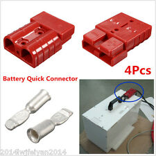 4Pcs Battery Quick Connector 50A 8AWG Plug Connect Disconnect Winch Trailer Auto