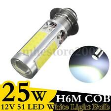H6M PX15d COB 51 LED White Turn Signal Indicator Light Lamp Bulb 25W DC 12V