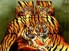 3D Yellow Tiger Only Duvet Cover Quilt Cover Queen Size L