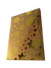 CHRISTMAS DVD & GAME GIFT BOX. Qulaity Fold Up Gold Box Fits Standard Single DVD