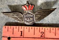 1950s? KLM JUNIOR STEWARDESS AIRLINE WINGS