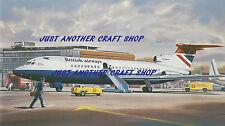 Roy Cross Airfix Hawker Siddeley British Airways Trident Print Poster Artwork