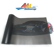 "12""x60"" Matte Black Light Smoke HeadLight Tailight Fog light Tint Sheet Film"