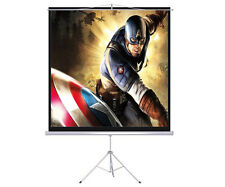 "New 100"" Tripod Portable Projection Screen Square 70x70 Projector Stand Office"