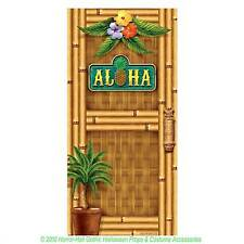 Luau Scene Setter ALOHA DOOR COVER Wall Poster Mural Tiki Bar Party Decoration