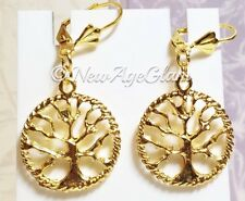 *TREE OF LIFE GOLD*_Charm Earrings_Branch Earth Nature Pagan Wiccan_E29