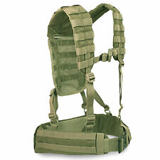 Bulldog MK2 Military Army Cadet MOLLE Airborne Webbing Belt Yoke Set Olive Green