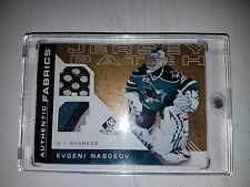 2007-08 SP Game Used Authentic Fabrics Patches #AFEN Evgeni Nabokov 36/50