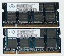 2048MB (2x 1GB) 2Rx8 DDR2-RAM 667MHz PC2-5300S NANYA Notebook Speicher