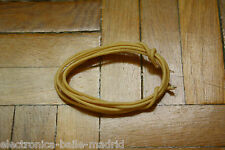 1 Mt WHITE GUITAR ELECTRIC 22 AWG VINTAGE CLOTH COVERED WIRE