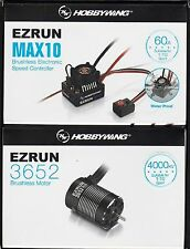 Hobbywing Max10 Waterproof ESC + 3652 brushless motor Power Combo for 1:10 RC 9T