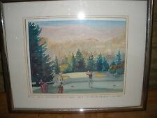 The Greenbrier #10 Watercolor Robert Mareneck Golf Course Old White Punch Bowl