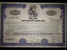 United Airlines, Inc. authentic stock bond certificate g8 4 aviation collectors