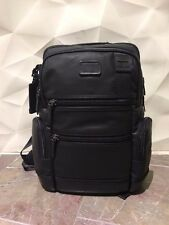 Tumi Alpha Bravo Knox Backpack Rare Black Coated Canvas - NEW