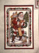 JANLYNN GLITTERY SNOW SANTA -  COUNTED CROSS STITCH - RARE!!