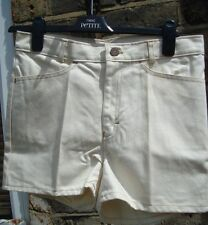 GIRLS BEIGE DEMIN SHORTS AGE 11-12