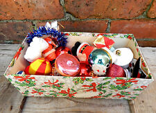 Vintage Retro Mixed Lot of Mid Century Christmas Tree Decorations in Box #2