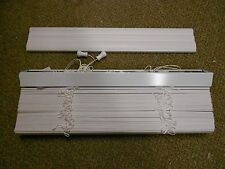 "White 2"" Faux Wood Blinds 22""x72"" Mobile Home RV Camper House *NEW*"