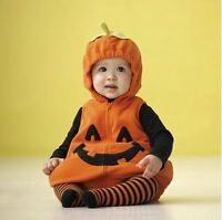 Baby Toddler Boy Girl Pumpkin Halloween Fancy Dress Party Costume Outfit 3-24M