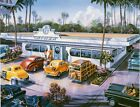 4653 THE AMERICAN DINER VINTAGE STYLE FINE ART METAL WALL SIGN LICENSED ART