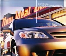 2004 04 Honda Civic Sedan Hybrid original brochure MINT