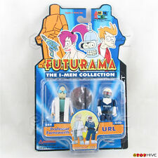 Futurama The I-Men Collection Professor Farnsworth & URL 2 pack Toynami - worn