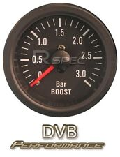 Black 52mm Car Diesel Boost Gauge 3 BAR clear lens Mechanical