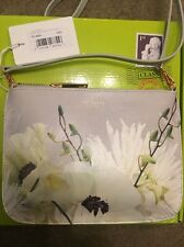 Bnwt Ted Baker Pearly Petal Xbody Grey Floral Shoulder Bag New Wedding Party Etc