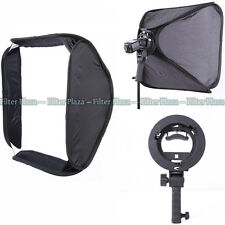 "PRO 24""/60cm Softbox + Handheld S-Type Bowens Mount Bracket For SpeedLight Flash"