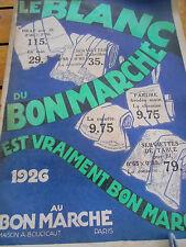 Catalogue au bon marché le blanc année 1926 ( ref 14 )