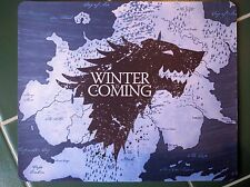 GAME OF THRONES Wolf Stark Anti slip  COMPUTER MOUSE PAD 9 X 7inch HBO