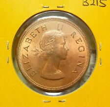 B215 - South Africa 1 Pence Coins (1959) - UNC/BU