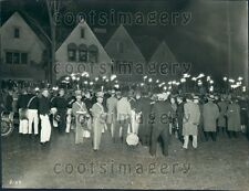 1928 Torchlight Parade to Kohler Village Sheboygan County Wisconsin Press Photo