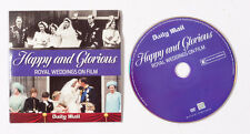 Happy and Glorious ROYAL WEDDINGS ON FILM DVD by the Daily Mail